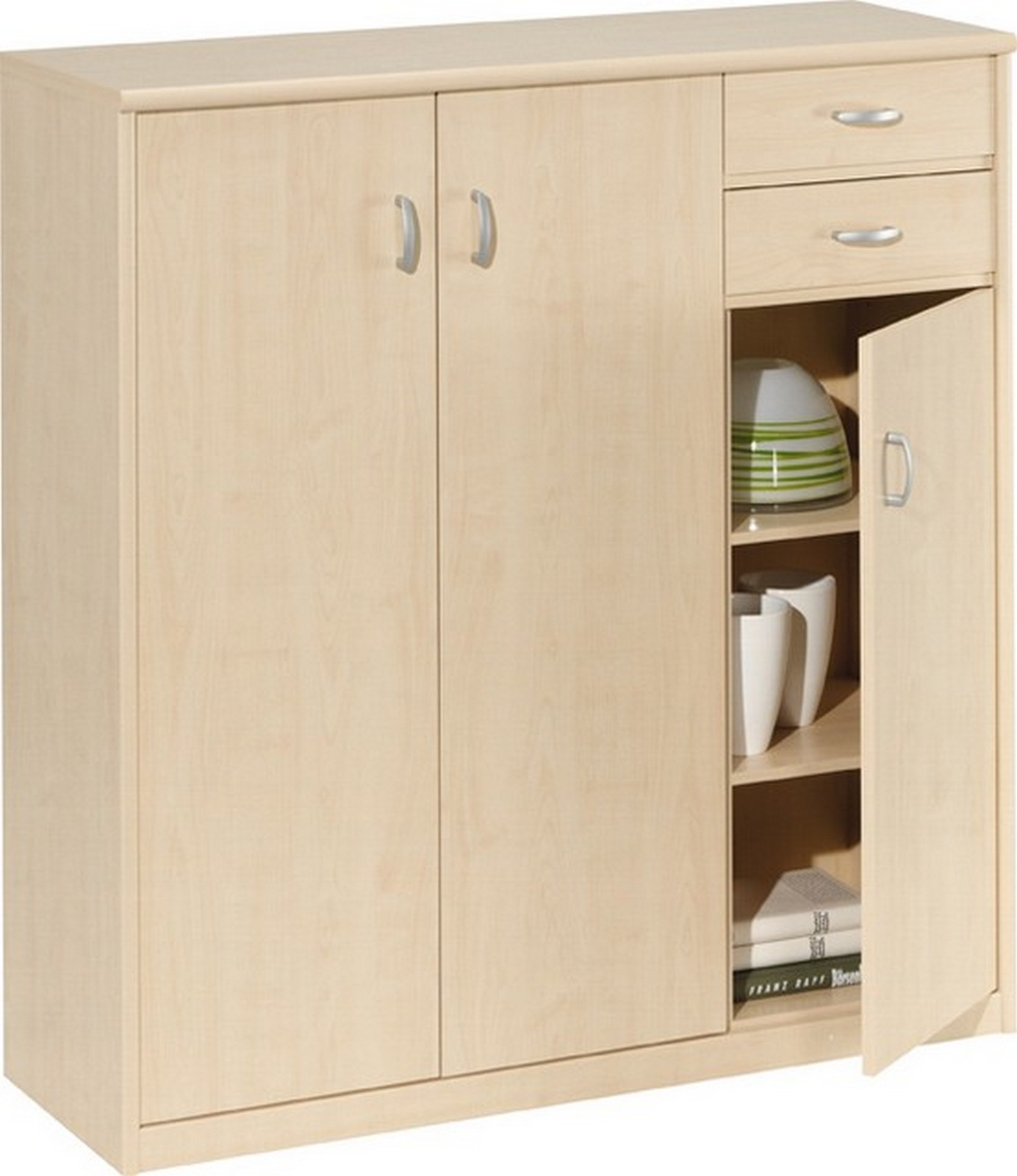 highboard kommode ahorn 3t ren 2schubladen ebay. Black Bedroom Furniture Sets. Home Design Ideas