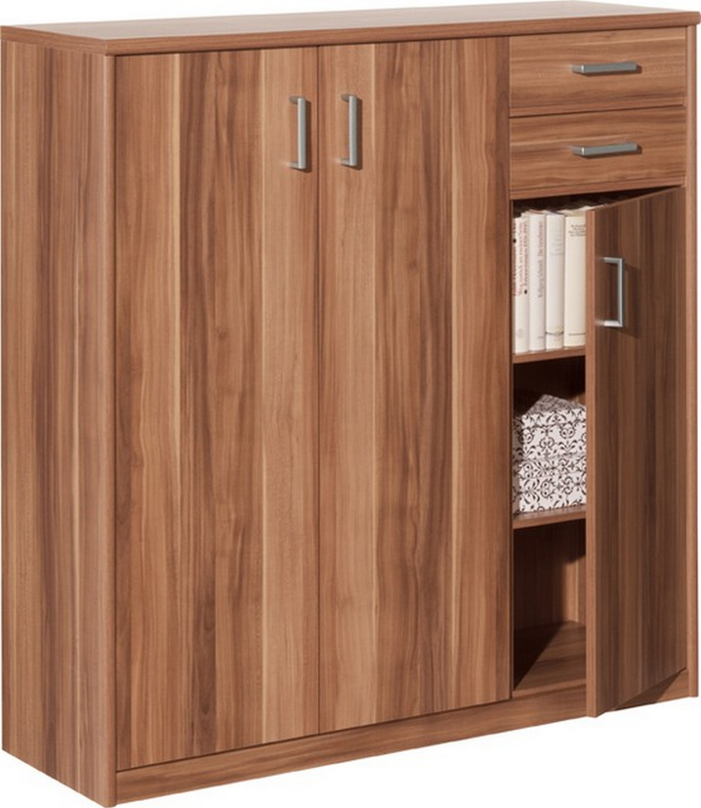 Kommode soft plus nussbaum highboard ebay for Kommode nussbaum nachbildung