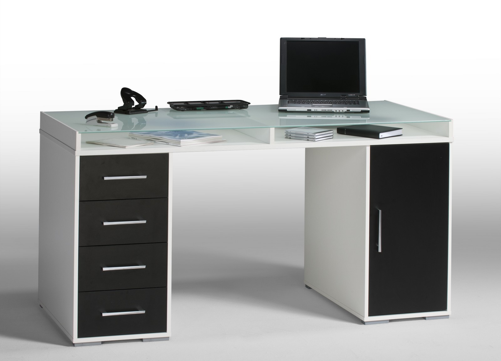schreibtisch computertisch pc tisch ben wei schwarz ebay. Black Bedroom Furniture Sets. Home Design Ideas